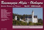 Reisemagazin Allgäu - Oberbayern - Reisetipps Europa