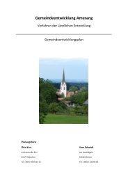 Abschlussbericht zum Gemeinde Entwicklungskonzept - Amerang