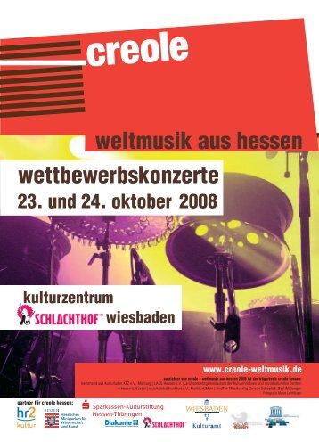 weltmusik aus hessen wettbewerbskonzerte 23. und 24. oktober 2008