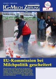 21. Zeitung, Ausgabe Februar 2009 - IG-Milch