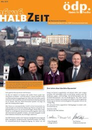 halbZeitim Passauer Stadtrat Mai 2011 ... - Urban Mangold