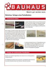 Workshop: Verlegen eines Parkettbodens