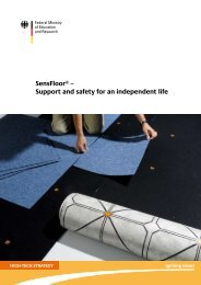 SensFloor® – Support and safety for an independent ... - Future Shape