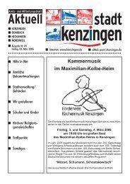 Kammermusik im Maximilian-Kolbe-Heim - Kenzingen