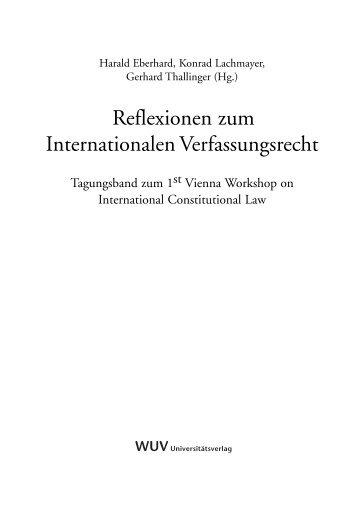 Wissensbilanzierung Titel - International Constitutional Law