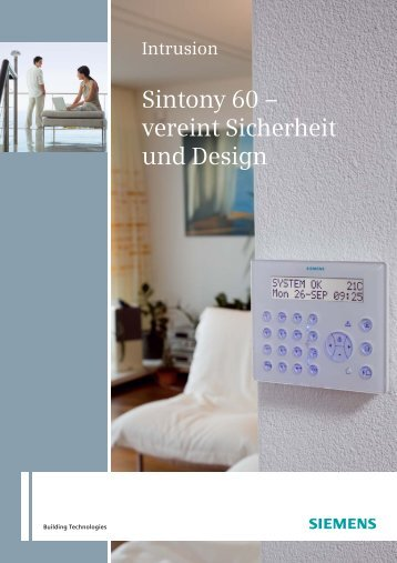 Sintony 60 – vereint Sicherheit und Design - Siemens Home Security