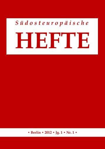 Südosteuropäische Hefte