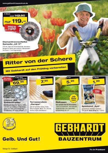 "statt 1 49:9"" - Gebhardt Bauzentrum"