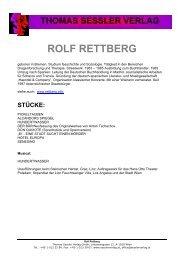 ROLF RETTBERG - THOMAS SESSLER - Verlag