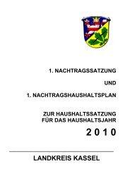 1. Nachtragshaushalt 2010 (3,8 MB) - Landkreis Kassel