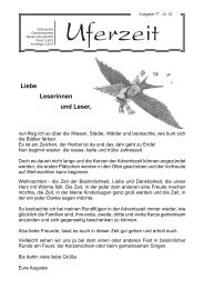 Liebe Leserinnen und Leser, - Diakoniewerk Neues Ufer