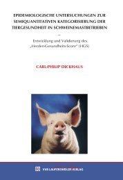 Epidemiologische Untersuchungen - Stiftung Tierärztliche ...
