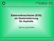 Elektroofenschlacke (EOS) als Gesteinskörnung für Asphalte - am ISE