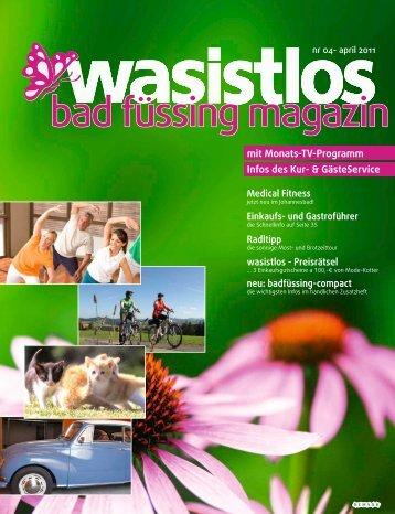 wasistlos badfüssing-magazin - Ausgabe April 2011