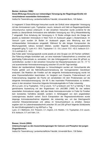 Becker, Andreas (1996) - Landwirtschaftliche Fakultät - Universität ...