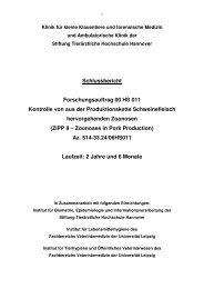 Schlussbericht Forschungsauftrag 00 HS 011 Kontrolle von ... - BLE