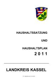 Haushaltsplan 2011 (5,4 MB ) - Landkreis Kassel
