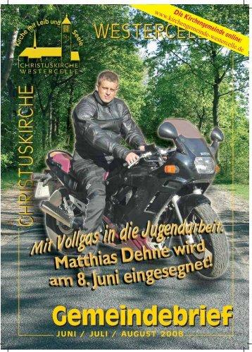 Ausgabe 2008: Juni/ Juli / August - Kirchengemeinde Westercelle