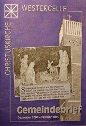 Ausgabe 2004/05: Dez / Jan / Feb - Kirchengemeinde Westercelle