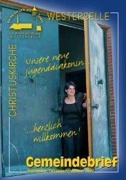 Ausgabe 2007: Sept / Okt / Nov - Kirchengemeinde Westercelle