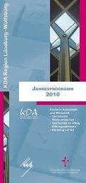 KDA Region Lüneburg - W olfsburg 2010 - Haus kirchlicher Dienste