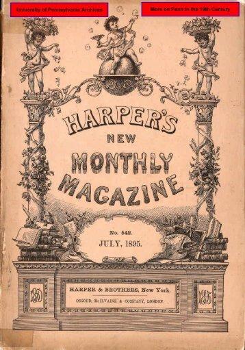 "Harper's Magazine 1895 ""U. of P."" - University Archives and Records ..."
