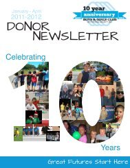 DONOR NEWSLETTER - Boys & Girls Club of Portage County
