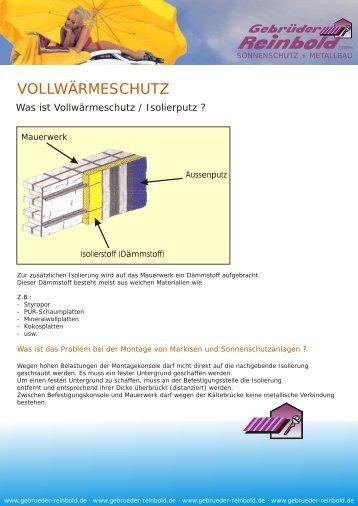 VOLLWÄRMESCHUTZ - Gebrueder Reinbold