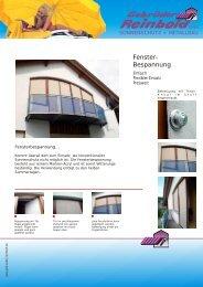 Fenster- Bespannung - Gebrueder Reinbold