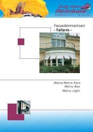 Fassadenmarkisen - Fallarm - - Gebrueder Reinbold