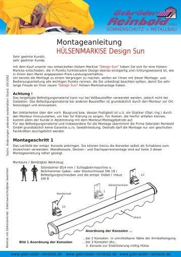 Montageanleitung Design Sun - Gebrueder Reinbold