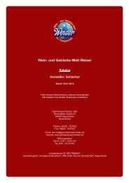 Katalog für Hersteller: Schierker - The Whisky Trader