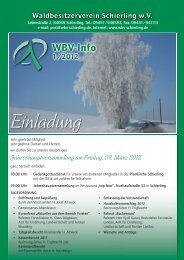 WBV-Info 1-2012 - Waldbesitzerverein Schierling wV