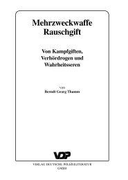Mehrzweckwaffe Rauschgift - Verlag Deutsche Polizeiliteratur GmbH