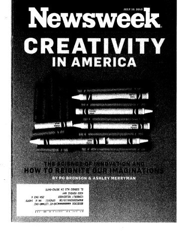 Newsweek 07.19.10 The Science of Innovation and - Sustained ...