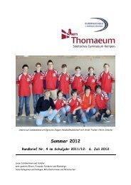 Rundbrief 4 Sommer 2012 - Gymnasium Thomaeum Kempen