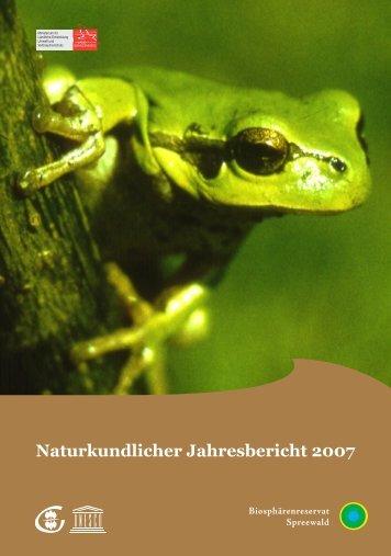 Naturkundlicher Jahresbericht 2007 - MUGV - Land Brandenburg