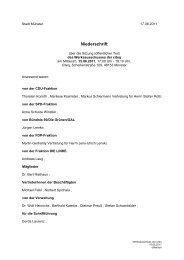 Niederschrift öffentlich - Sitzung 15.06.2011 Sitzung