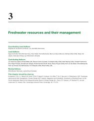Freshwater resources and their management