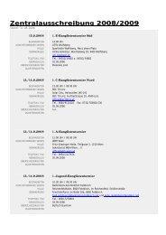 Zentralausschreibung 2008/2009 - Badminton Club Windischgarsten