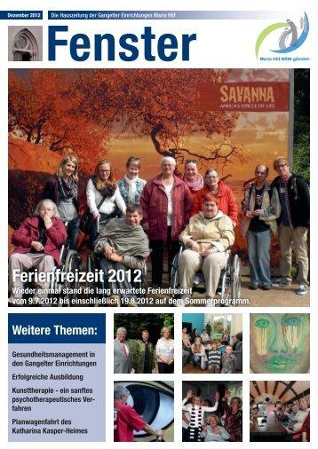 Lesen Sie hier die aktuelle Ausgabe Dezember 2012 - Gangelter ...