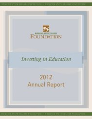 Foundation Annual Report 2012 - Bismarck State College