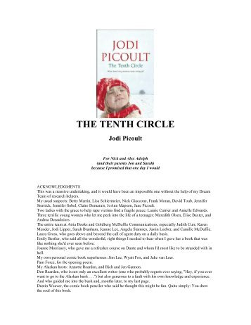 THE TENTH CIRCLE Jodi Picoult
