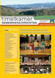 Gemeindenachricht Nr. 6/2008 - Marktgemeinde Timelkam
