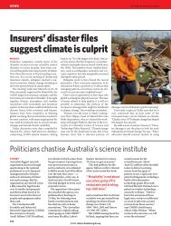 Nature - Insurance in a Climate of Change