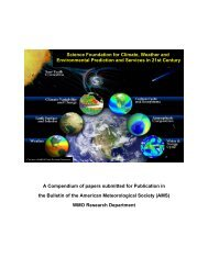 An Earth-System Prediction Initiative for the 21st Century - WMO