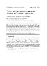 P6- and Triangle-Free Graphs Revisited - Discrete Mathematics ...