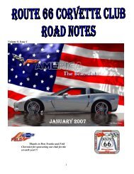 Volume 8, Issue 1 - Route 66 Corvette Club