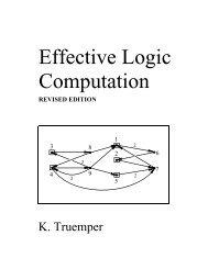 Effective Logic Computation - The University of Texas at Dallas