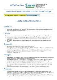 AWMF online - Leitlinie Kinderchirurgie: Ureterabgangsstenose